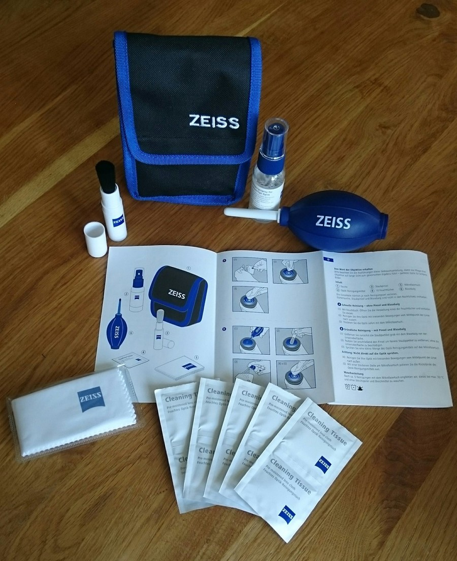 Zeiss Lens Cleaning Kit Inhalt