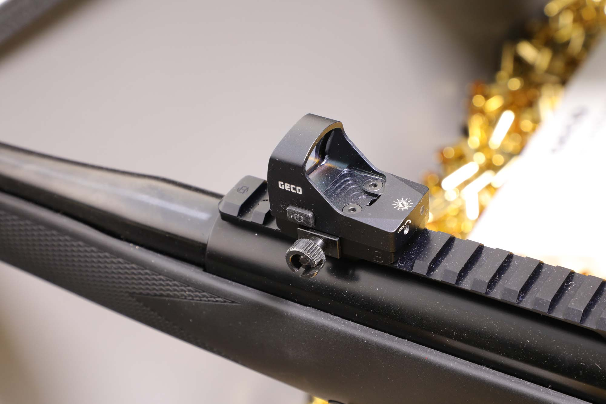 Leuchtpunktvisier GECO Open Red Dot Sight seitlich
