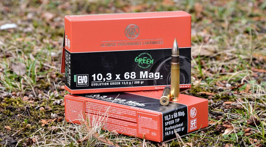 RWS Munition im Kaliber 10,3 x 68