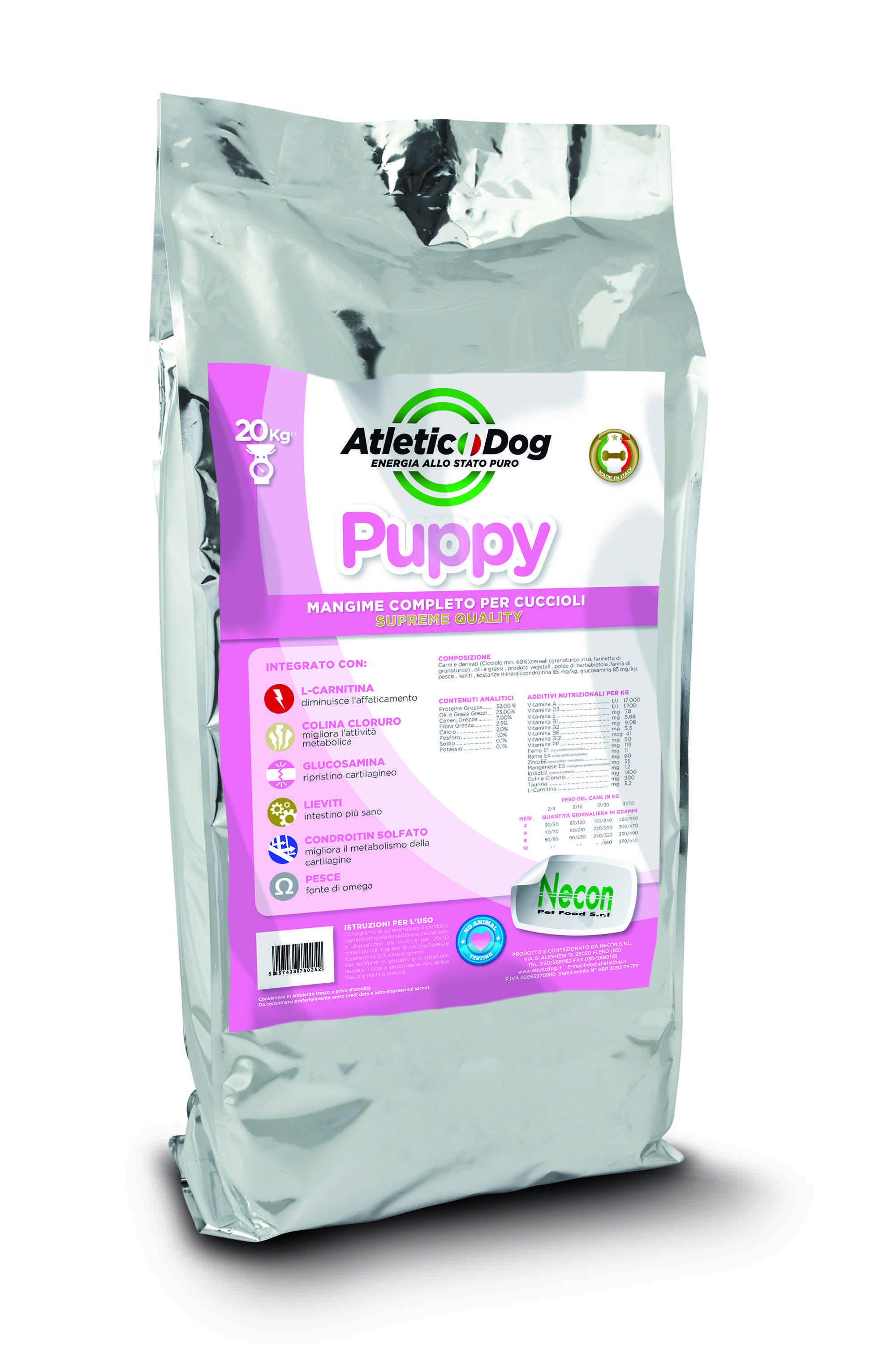 Atletic Dog Puppy Futtersack 20 kg
