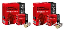 GECO Coated Slug Black 26 und GECO Coated Competition Slug Red 28