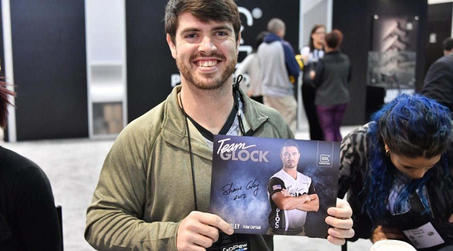 GLOCK Shooting Team Captain Shane Coley auf der SHOT Show 2017