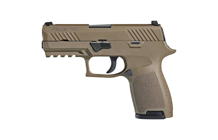 SIG Sauer P320-M18 Zivilversion in FDE.