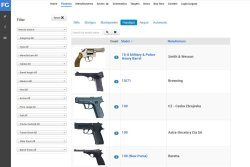 Suchparameter des Firearms Guide