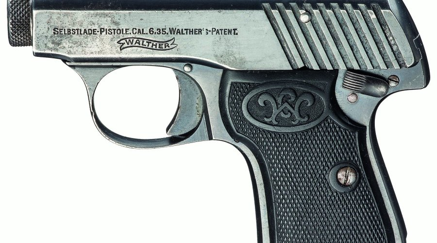 "Walther Modell 2 mit Ladeanzeiger ""Springkimme""."