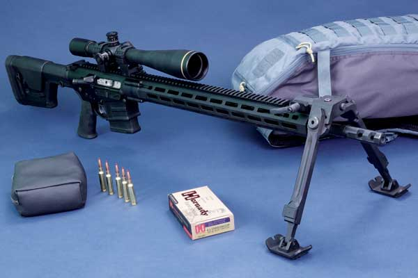 Savage MSR 10 Long Range in 6,5 mm Creedmoor auf Zweibein.