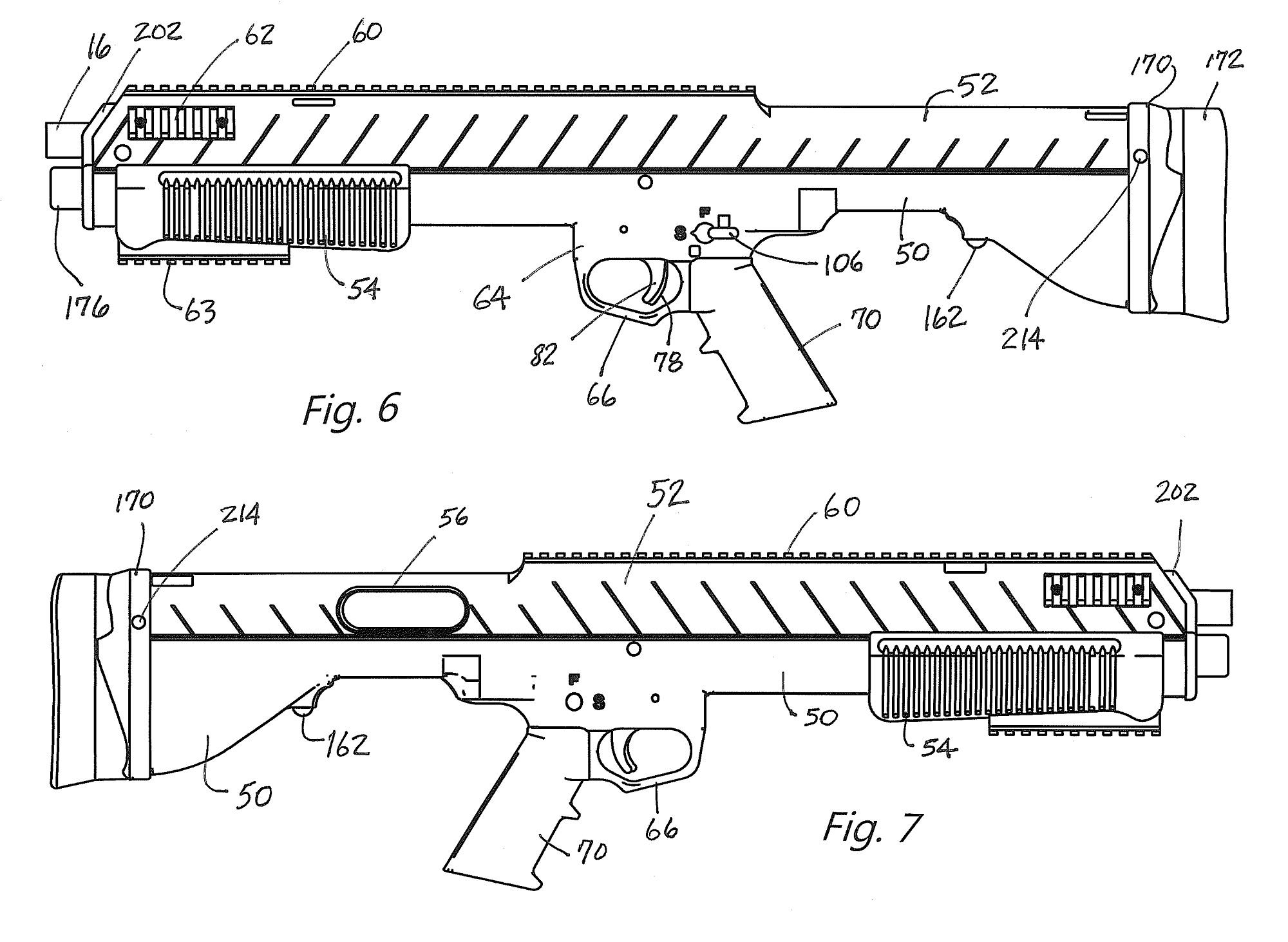 12 gauge bullpup bpu 870 conversion unit by bullpup unlimited rh all4shooters com remington 870 wingmaster diagram remington 870 diagram pdf