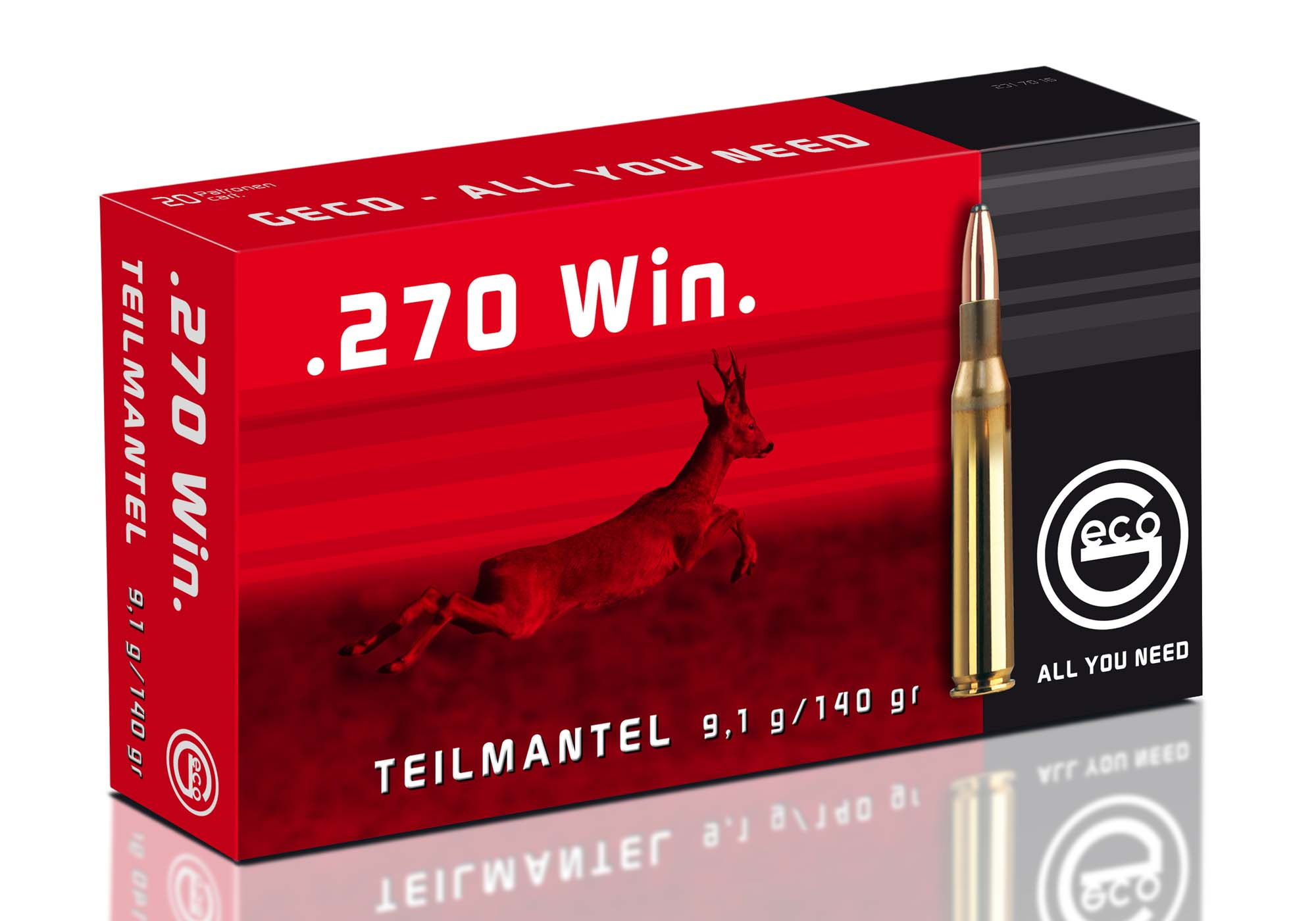 "The ""Teilmantel"" (Softpoint) range is Geco's most extensive line, virtually suitable for any hunting type and game"