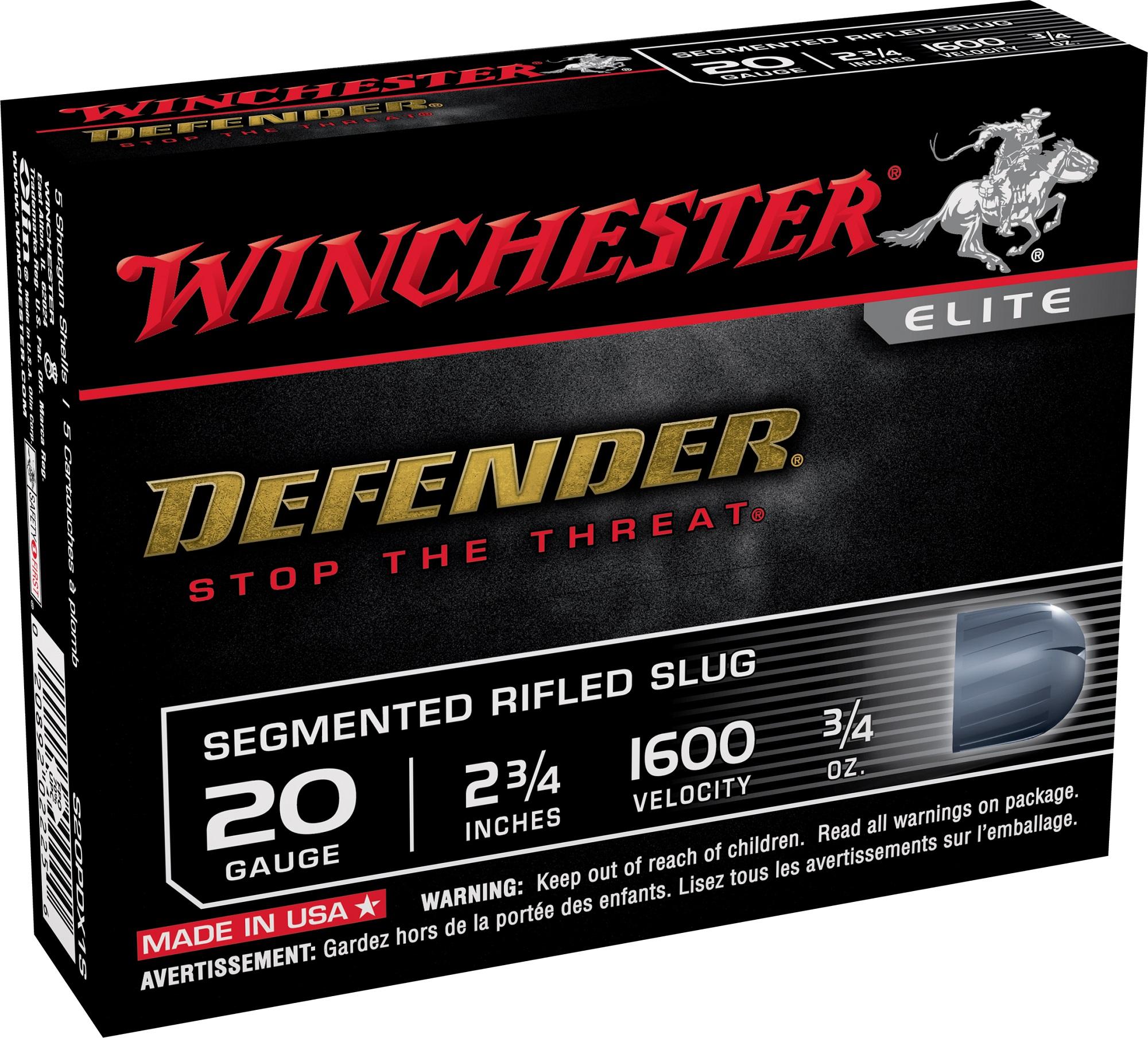 Winchester Pdx1 Defender 20 Gauge Segmenting Rifled Slug
