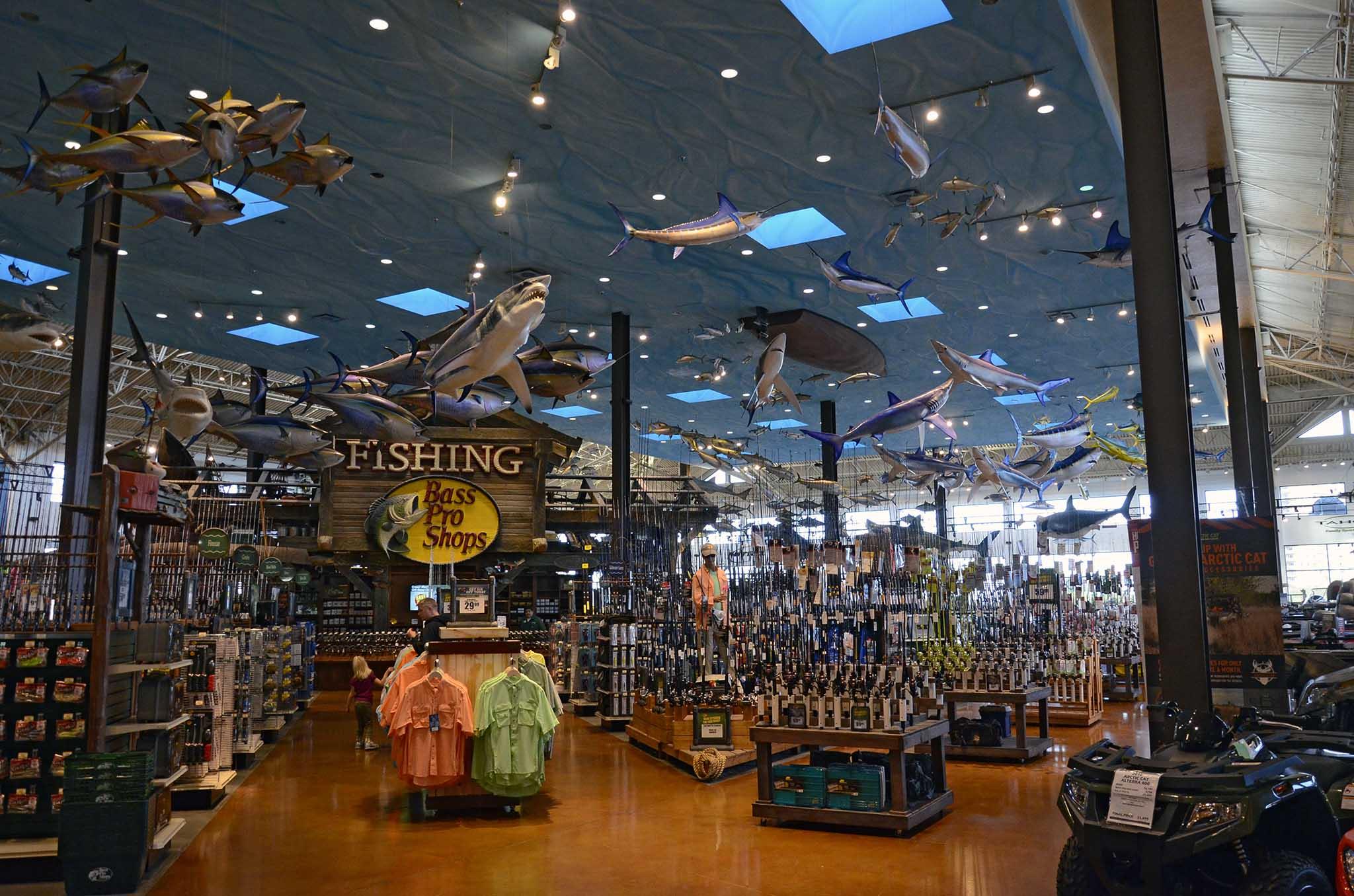Bass pro shops outdoor world di las vegas for Fish store las vegas