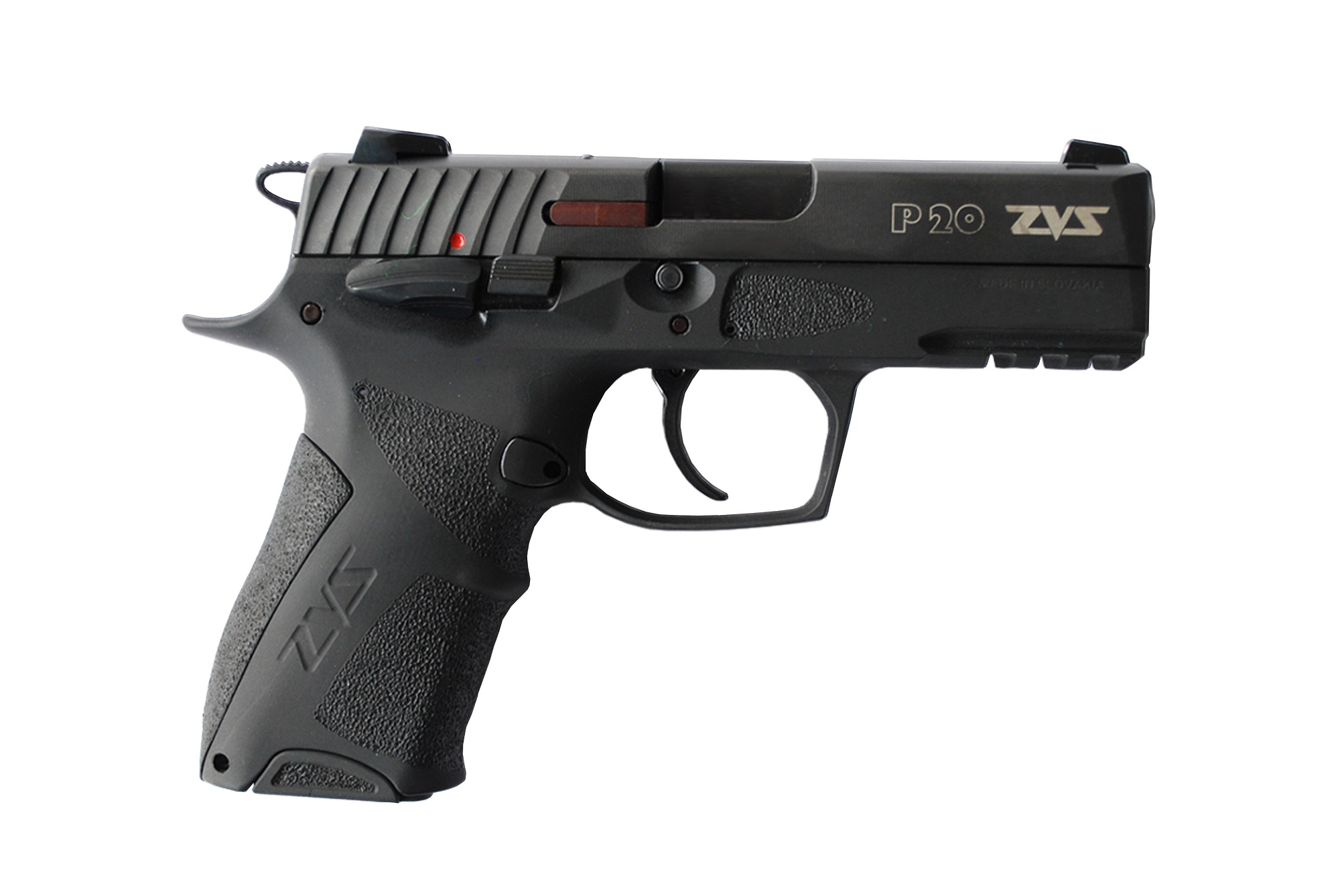 The P20 pistol is based on a standard Browning/CZ type working system
