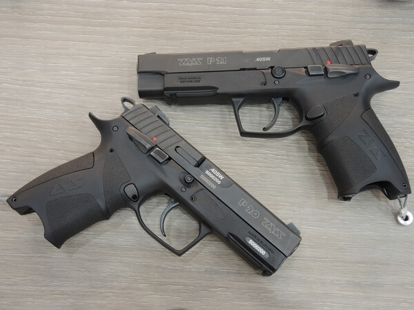 The P20 pistol can be converted to the P21 variant simply by swapping the barrel and the slide
