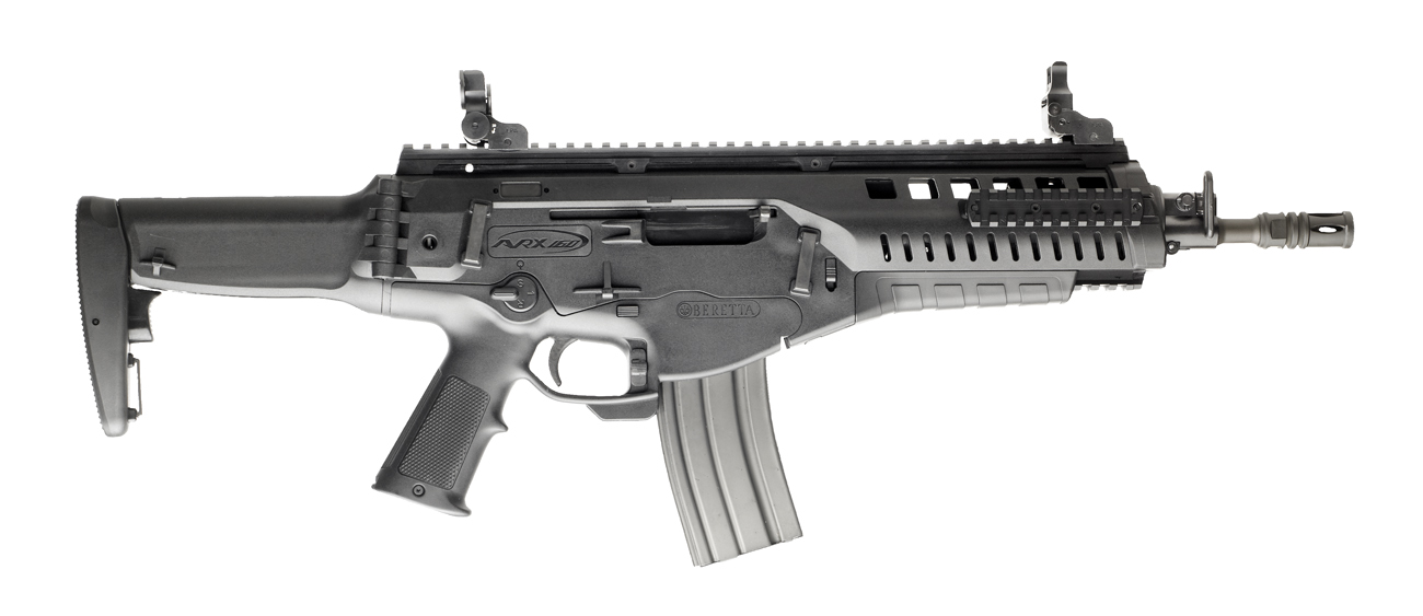 The ARX-160 A3 assault rifle can be converted to three different calibers, is totally ambidextrous, and comes with three interchangeable barrels