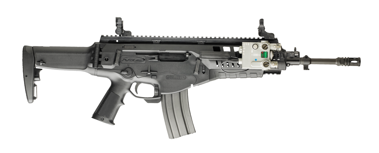 Beretta introduced the latest incarnation of the ARX-160 assault rifle, dubbed the A3, at the DSEi 2013 expo in London