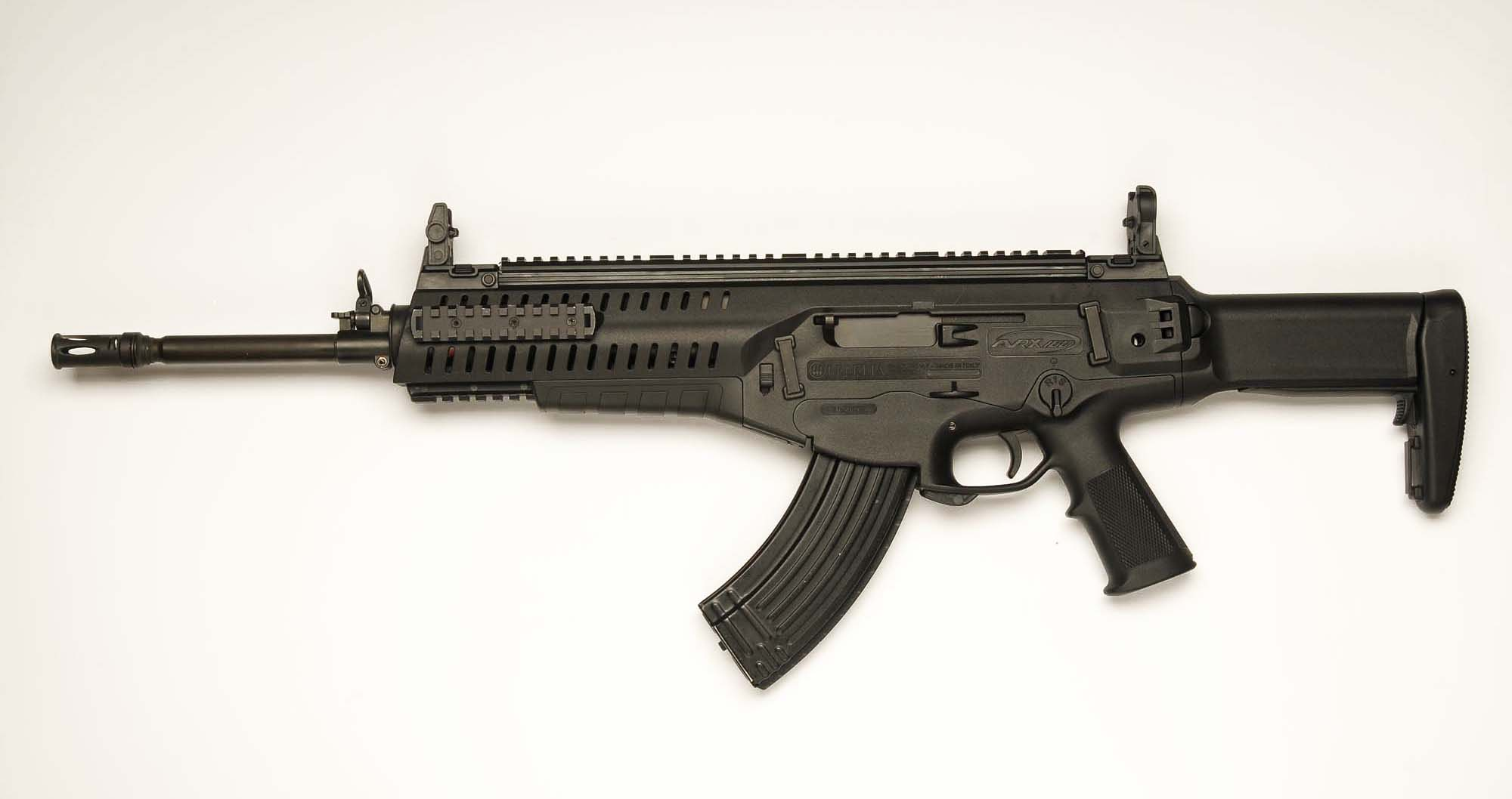 A left side view of the ARX-160 in the 7.62x39mm caliber