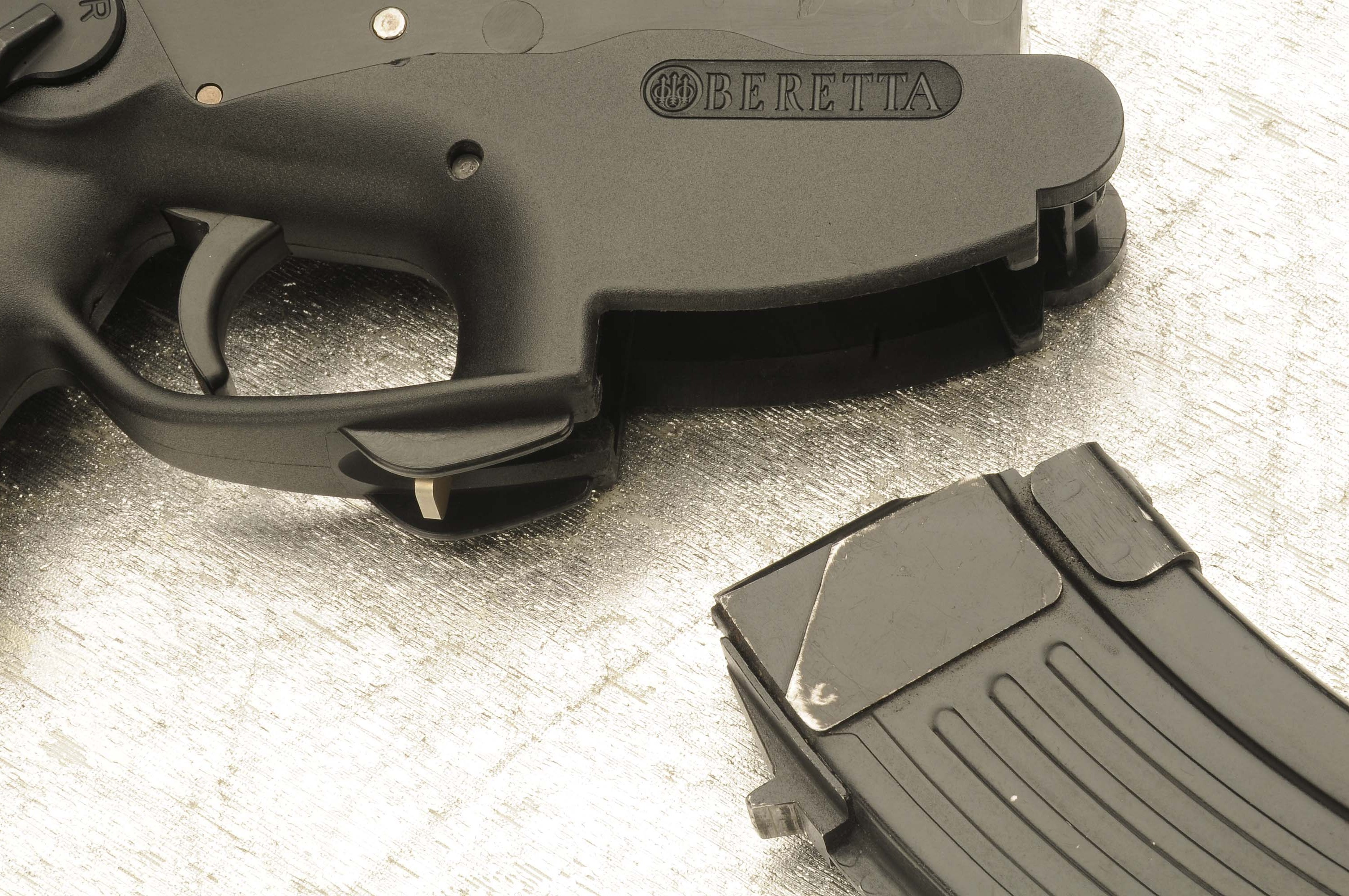 The most important detail of the new lower receiver is the redesign of the magazine well
