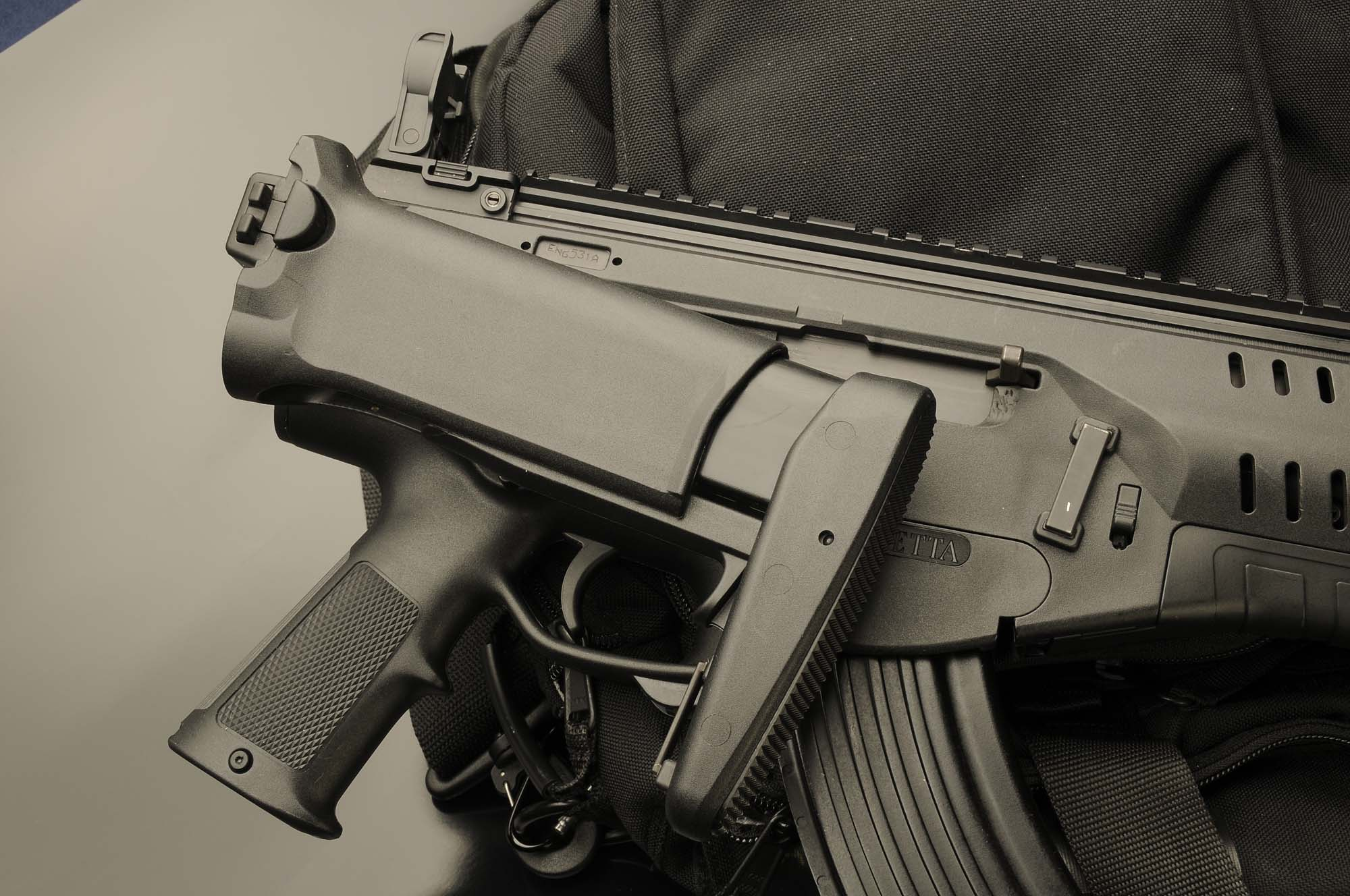 In the closed position, the ARX 160's stock does not hinder the handling of the weapon and it's basic operation