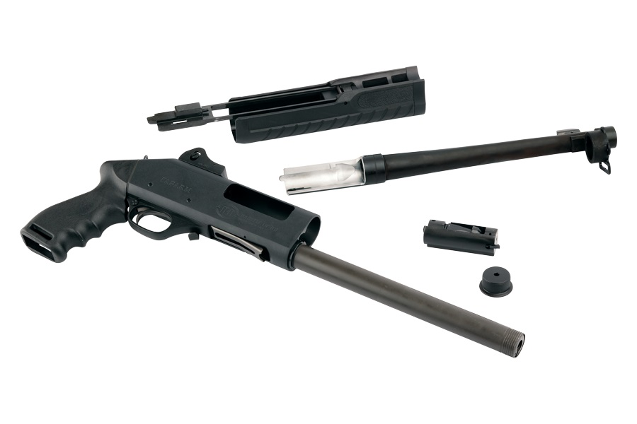 Disassembly procedures for this stubby shotgun are kept basic, so to ease normal cleaning and maintenance operations