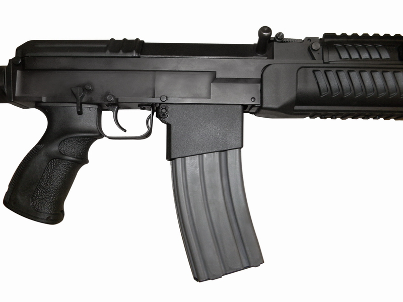 The .223 Remington variants of the CSA rifles and carbines can be fitted with an accessory adapter to feed from STANAG (AR-15 type) magazines