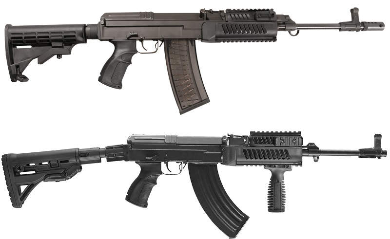 The Czech Small Arms' rifles are available in .223 Remington, .222 Remington (in some Countries) and 7.62x39mm, in a plethora of wooden, polymer or tactical furnitures