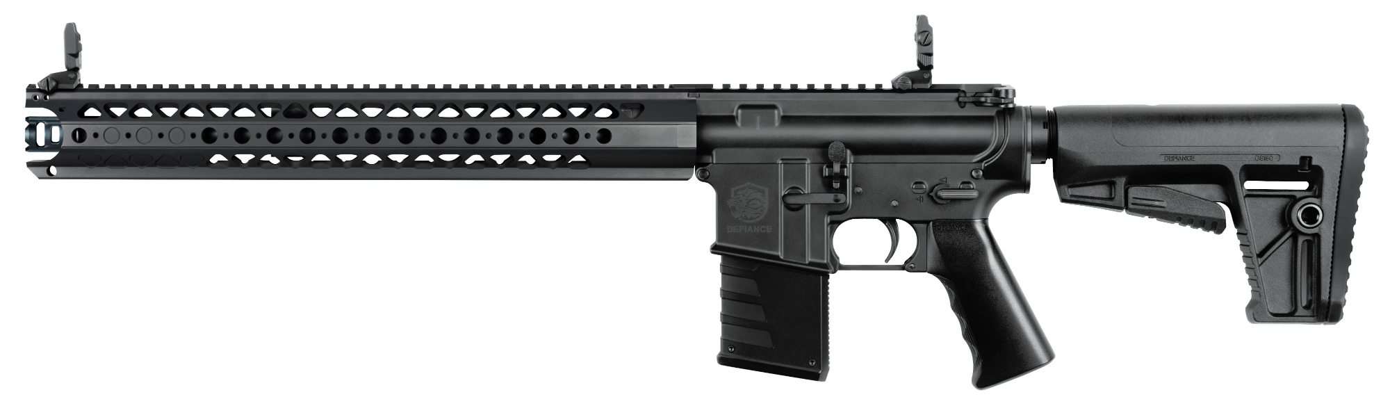The DMK22 LVOA is equipped with the War Sport LVOA modular hand guard.