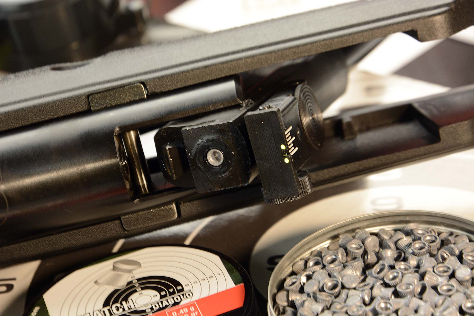 how to adjust air rifle open sights