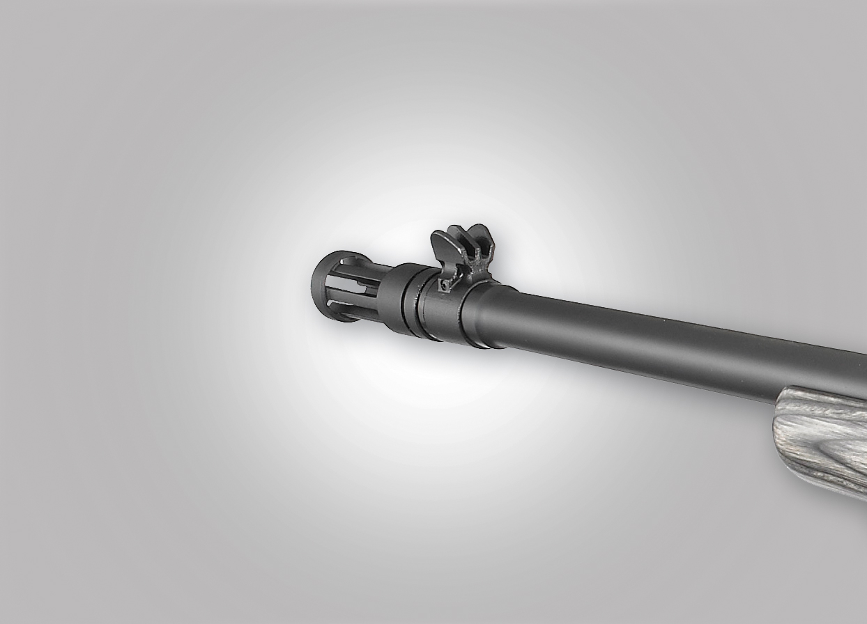 The conic flash suppressor effectively lowers the levels of muzzle climb for the .308-Winchester caliber