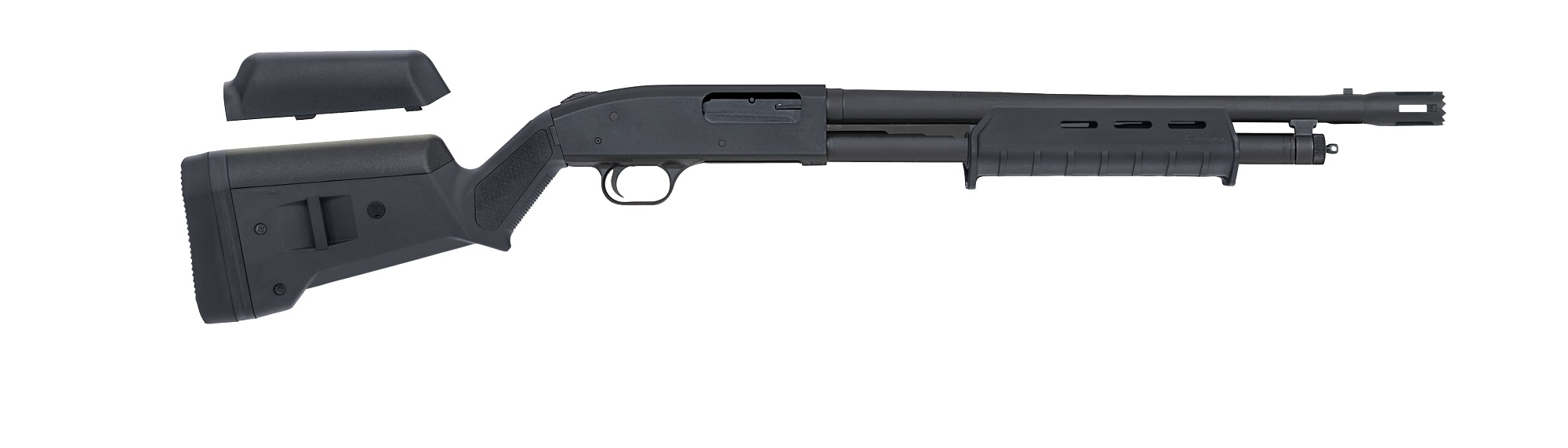 mossberg magpul series pump action shotguns mossberg sons rh all4shooters com Mossberg Shotgun Parts Diagram Mossberg Forearm Flashlight