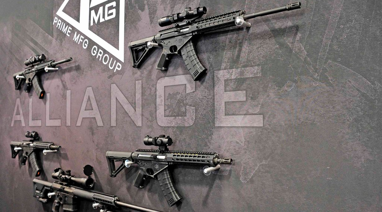 SHOT Show 2016 - PMG Prime Arms booth