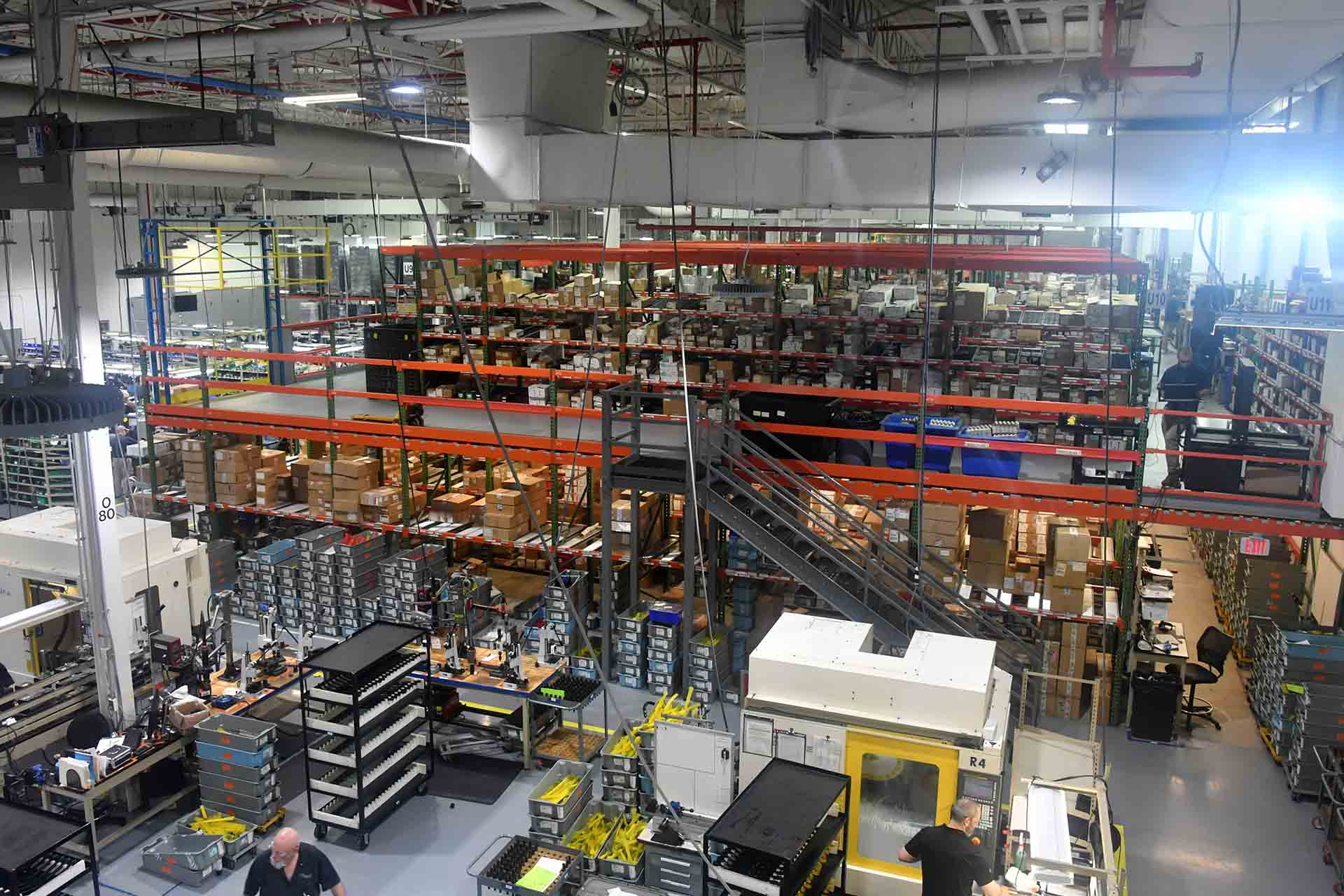 SIG Sauer USA manufacturing plant in New Hampshire, United States. Parts warehouse.