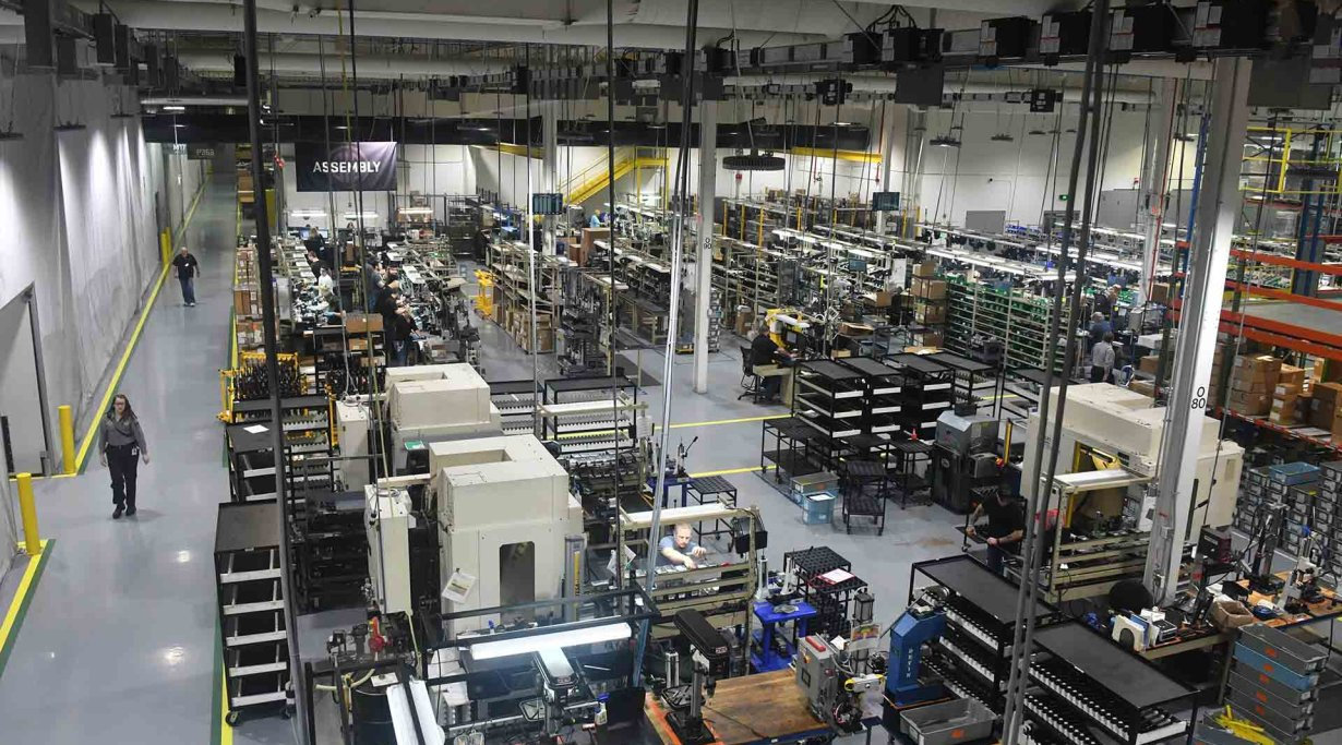 SIG Sauer USA manufacturing plant in Newington, New Hampshire, United States.