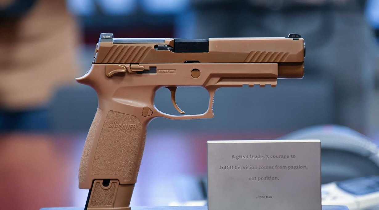 SIG SauerP320 sample for the XM17 Modular Handgun System (MHS) competition