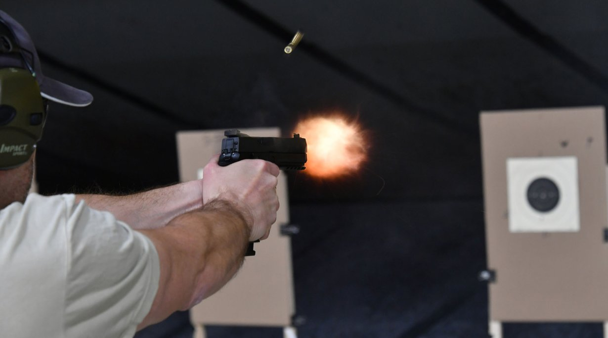 Live fire testing the SIG Sauer P320 X5 pistol at the SIG Sauer Academy