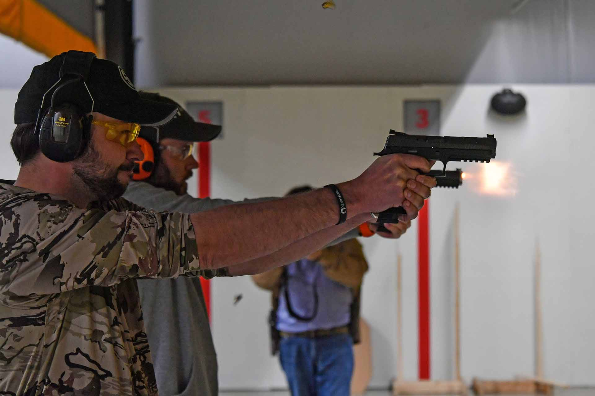 Live fire testing the SIG Sauer P320 X5 pistol at the SIG Sauer Academy in USA