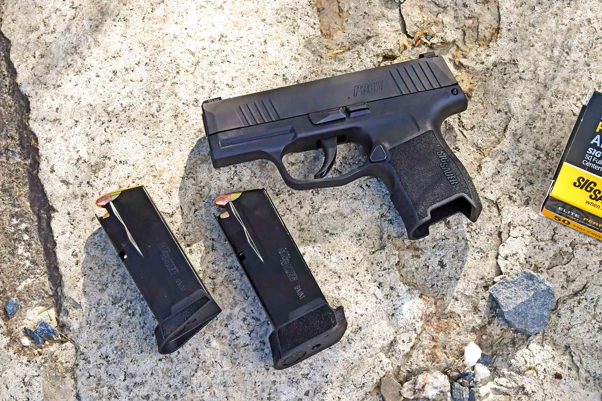 SIG Sauer sub compact P365 pistol in 9mm with two magazines