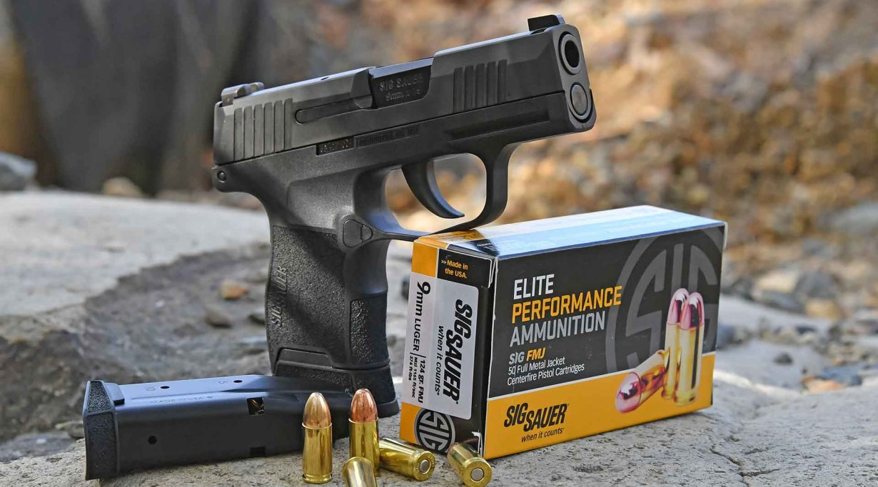 SIG Sauer sub compact P365 pistol in 9mm