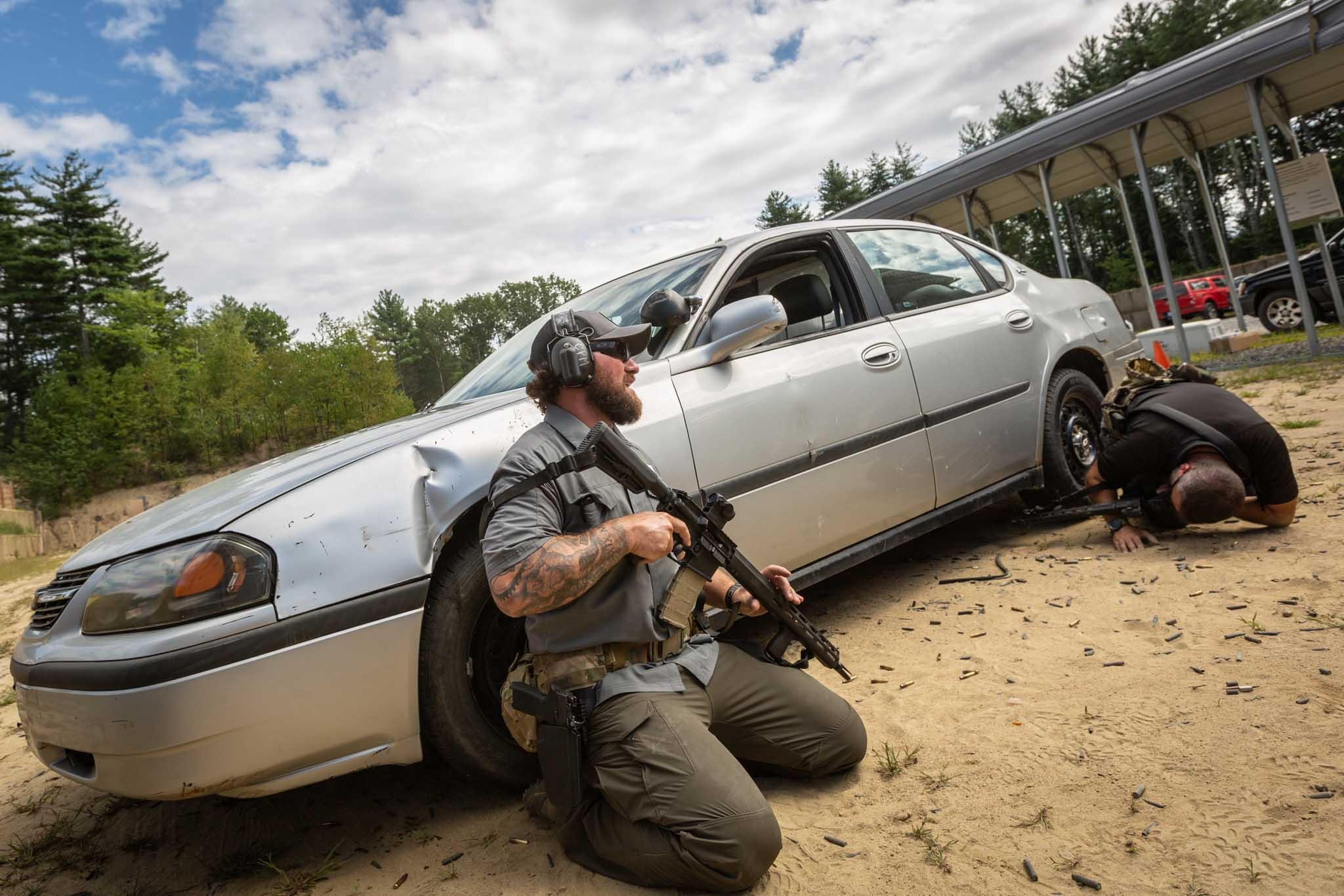 A two man shooting drill with the SIG Sauer M400 TREAD rifle