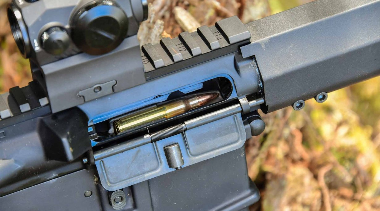 The SIG Sauer M400 TREAD gas operating system.