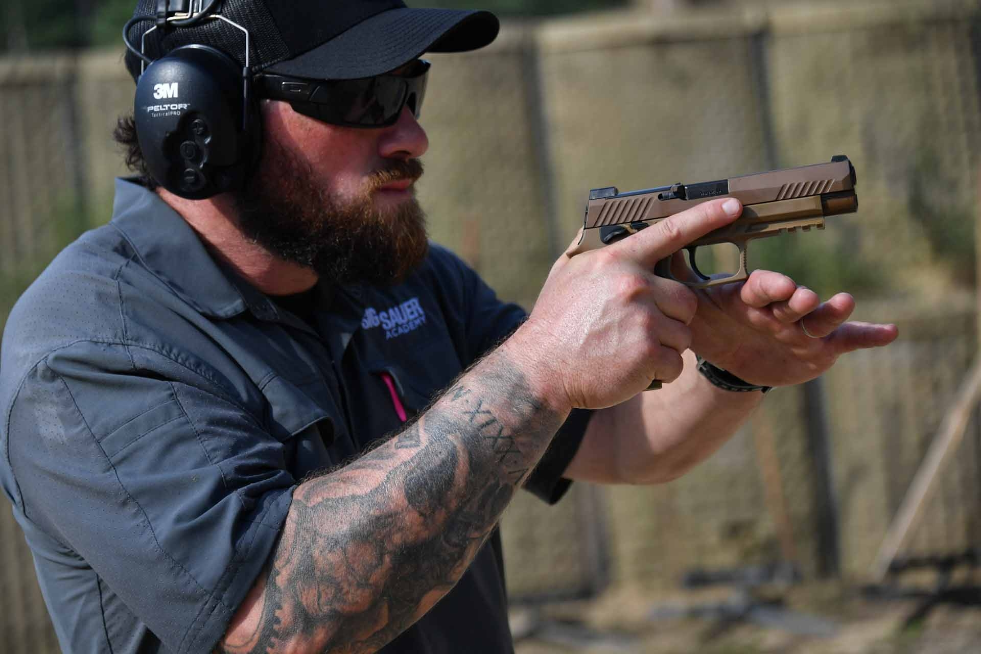 Fire testing of the SIG Sauer P320-M17 pistol