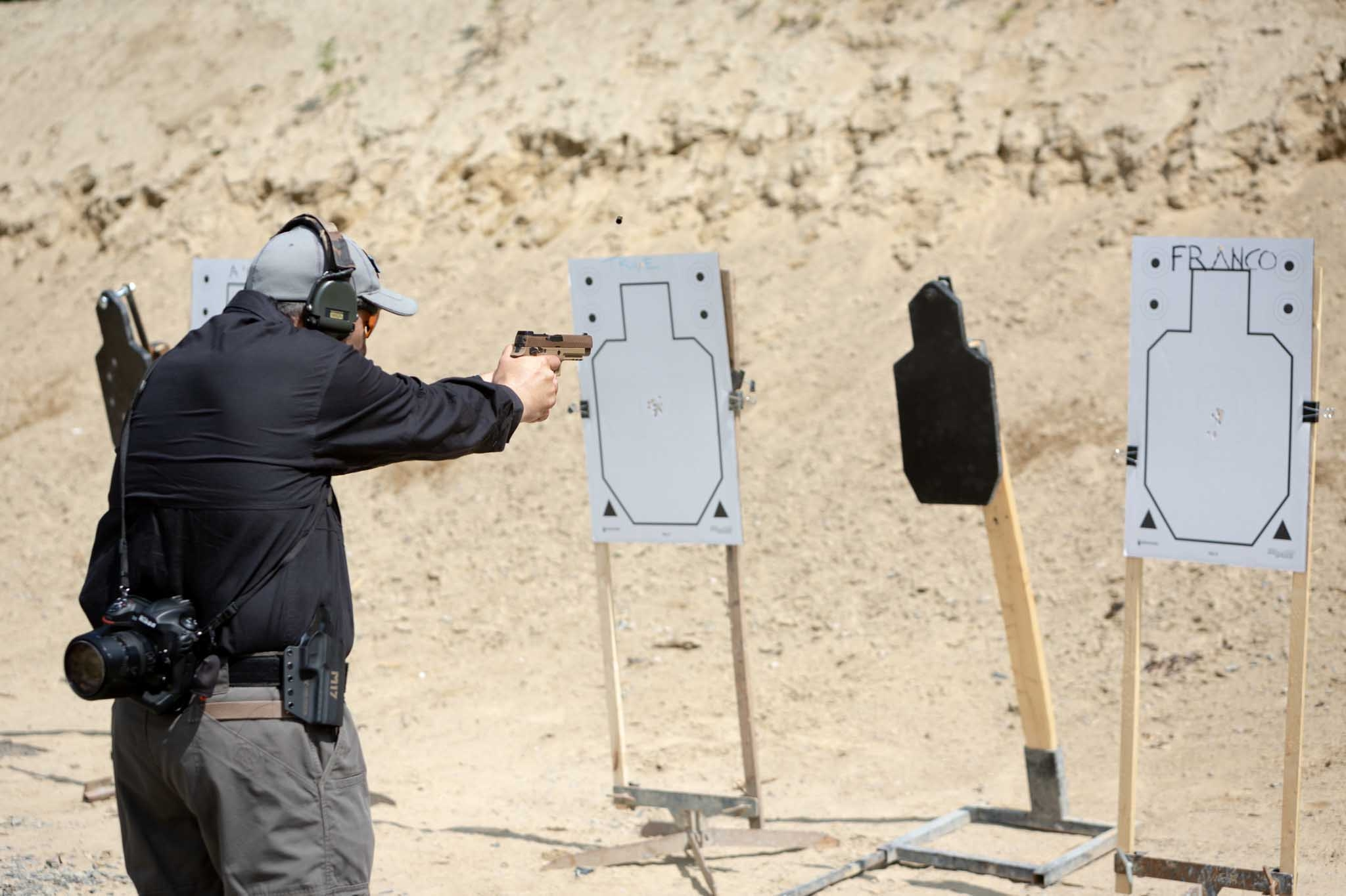 SIG Sauer P320-M17 pistol during the test