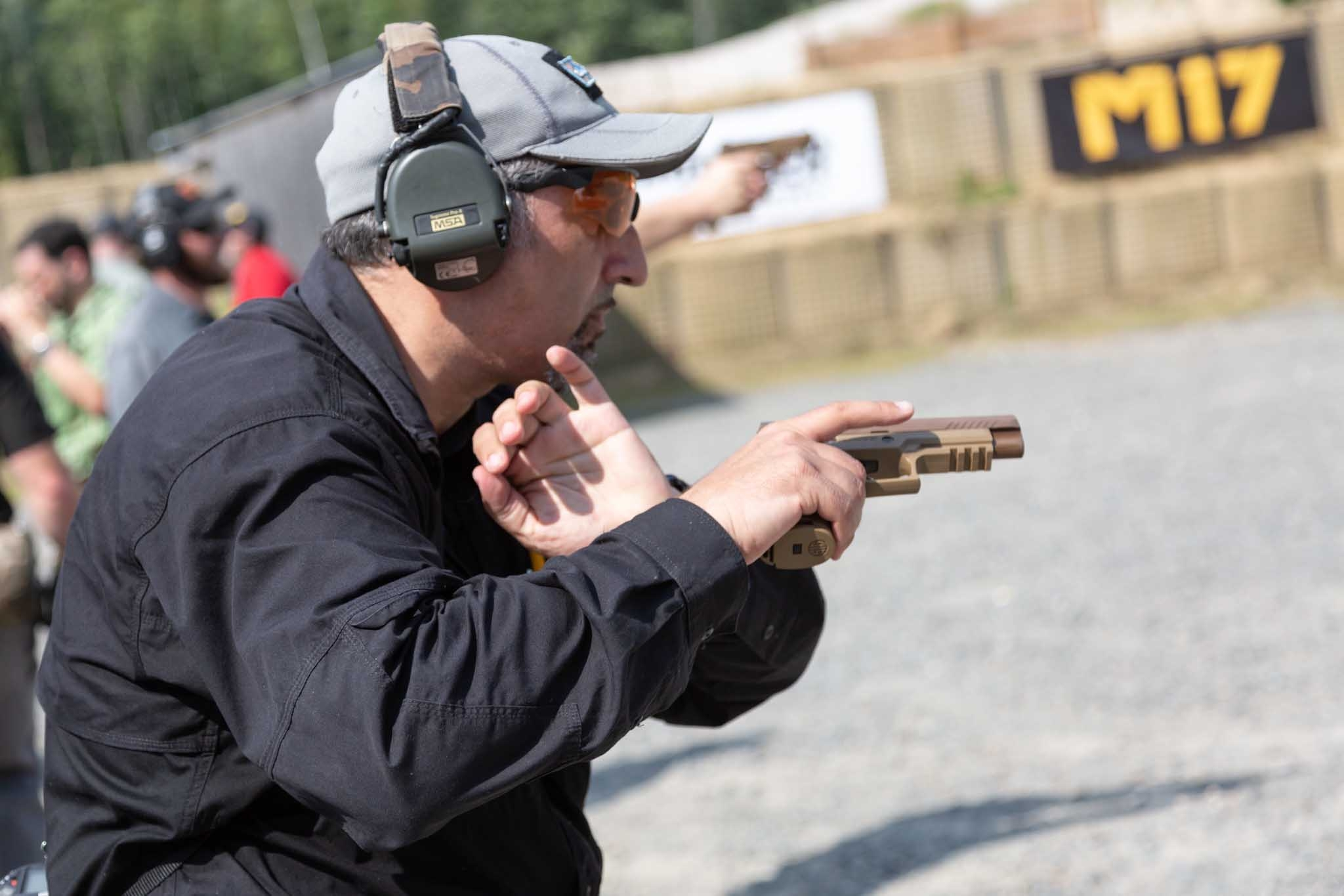 Speed reloading the SIG Sauer P320-M17 pistol