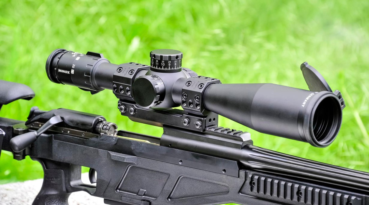 Riflescope on Blaser Tactical 2