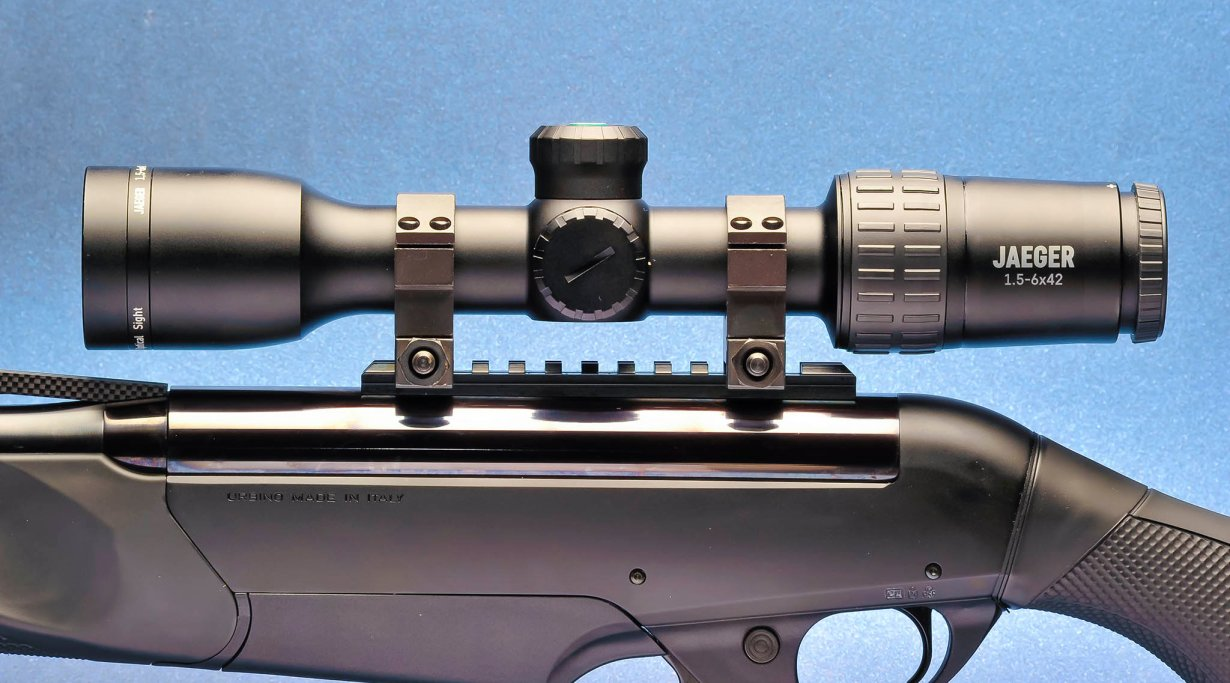 riflescope with rifle