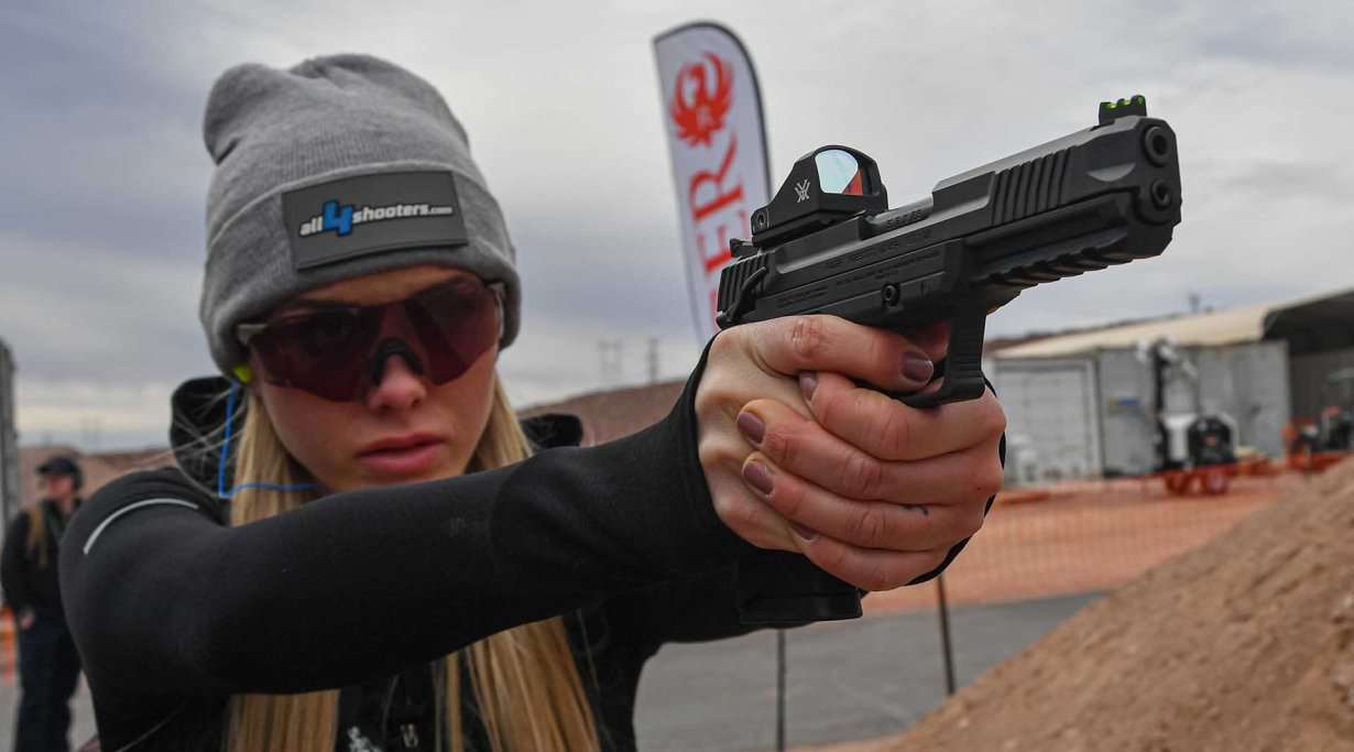 Shooting with the new Ruger-57 pistol