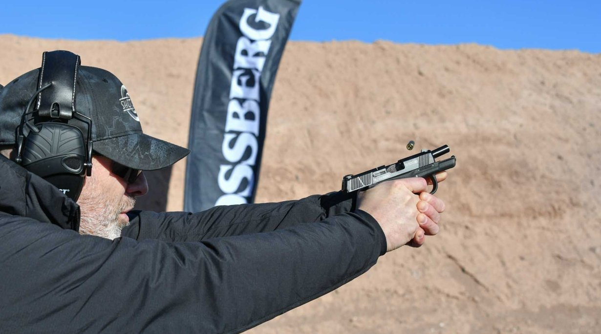 Shooting the Mossberg MC1sc at the Industry Day at the Range