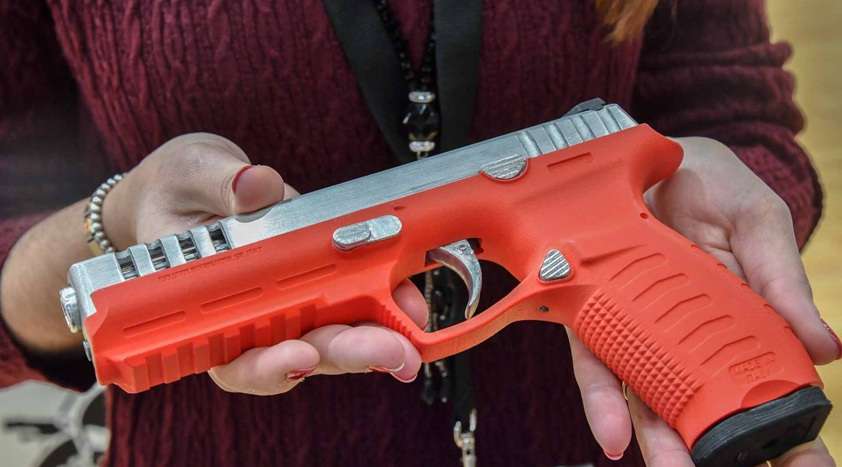 Evolution International S.r.l. airsoft gun prototype showcased at IWA 2018.