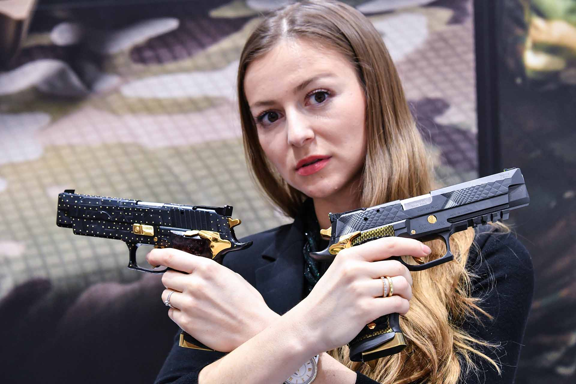 SIG Sauer Mastershop custom made pistols at IWA 2018.