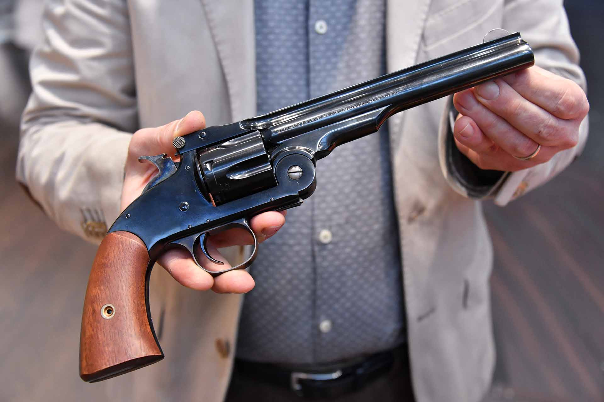 Uberti 1875  No. 3 - 2nd Model Top Break revolver.
