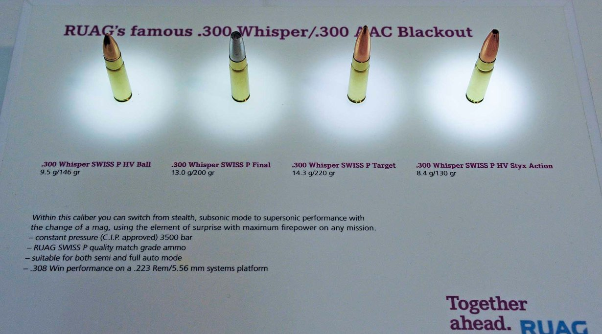 RUAG Ammunition .300 Whisper and .300 AAC Blackout