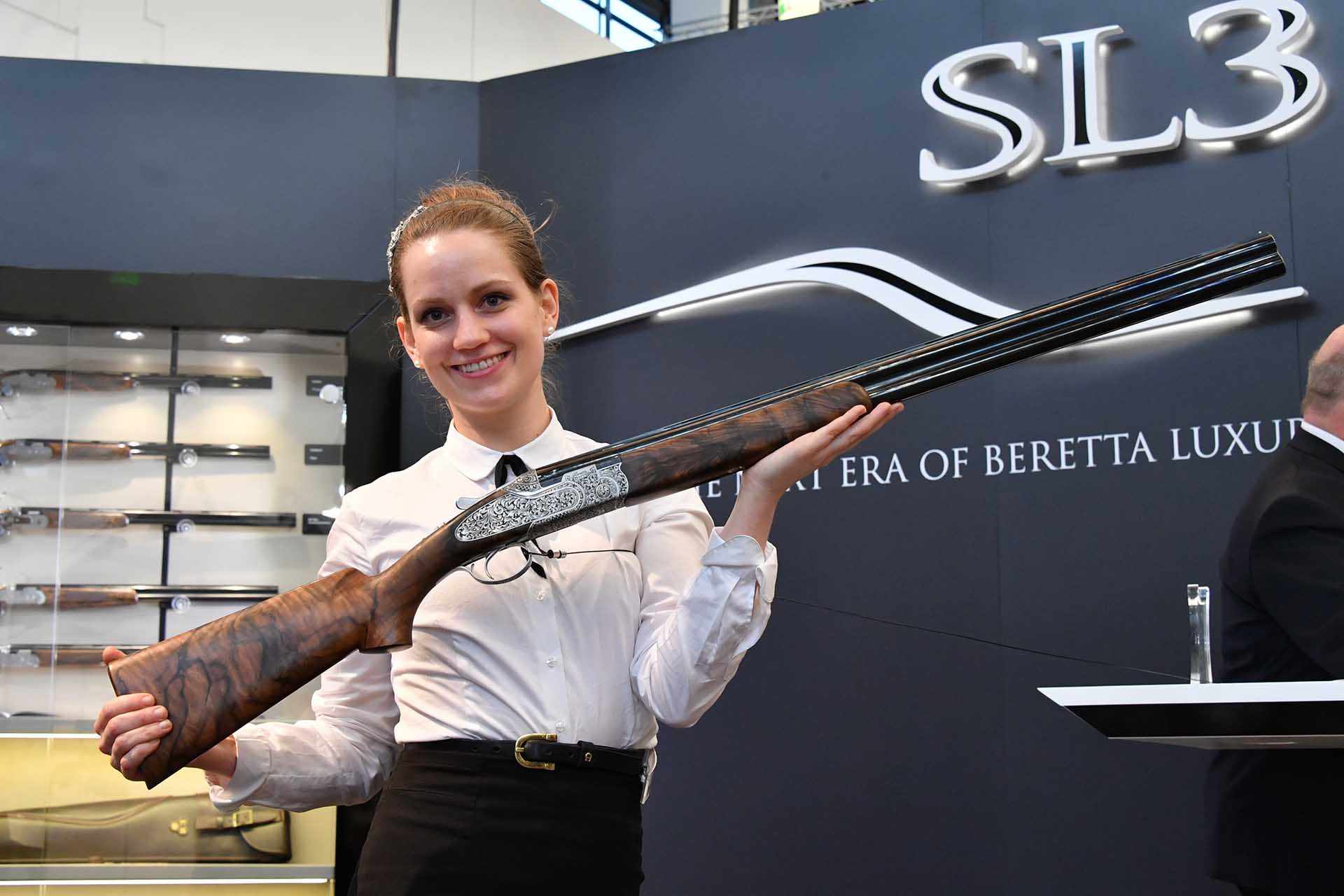 The hunting over-under Beretta SL3 at IWA 2018